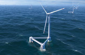 Floating turbines
