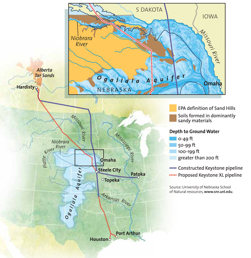 KEYSTONE XL Compromise Route Around Neb Sand Hills Still