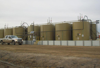 Fracking tanks