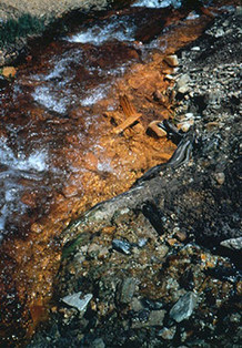 Acid mine runoff
