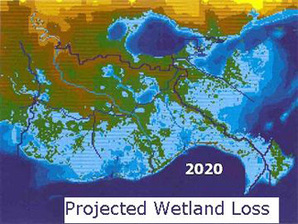 Wetland loss map