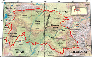 Uintah Basin map