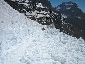Glacier snow road