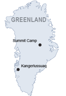 Greenland locator map