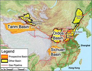 China gas map