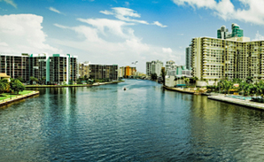 Hallandale Beach panorama
