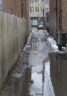 Alleyway puddle