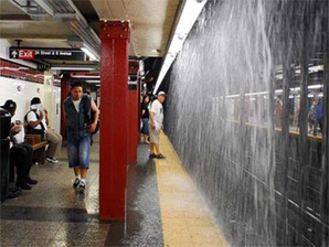 Subway deluge