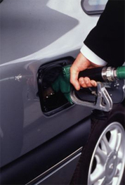 Filling a gas tank