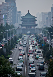 Traffic in Xian, China