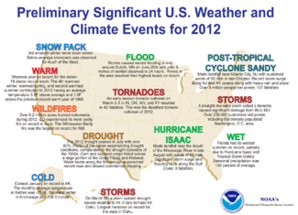 2012 Significant weather map