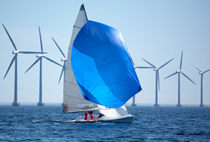 Boat and turbines