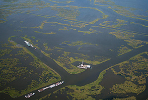 Coastal marsh canals