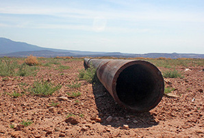 Abandoned drill pipe