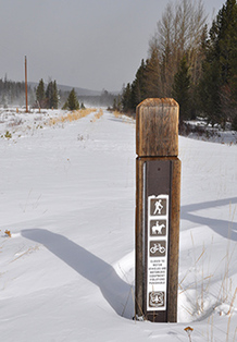 Trail post