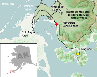 Izembek National Wildlife Refuge map