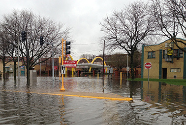 Flooded McDonalds