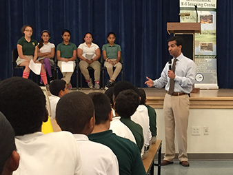 Carlos Curbelo with school kids