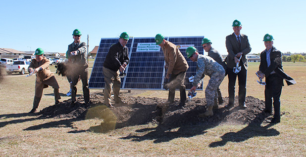 Breaking ground on FT. Hood solar farm