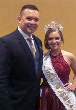 John Pippy with this year's King Coal Association Coal Queen