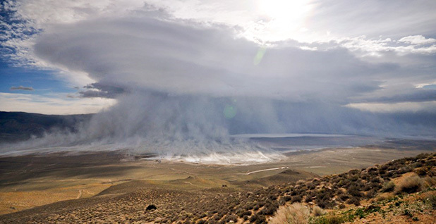 Owens Lake dust storm