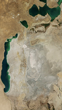 Aral Sea in 2014