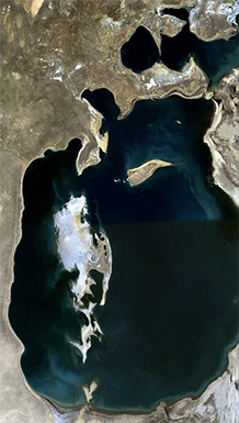 Aral Sea in 1989