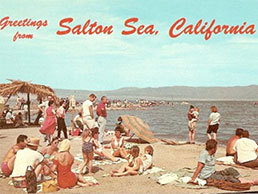 old postcard of Salton Sea