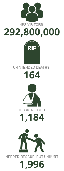 2014 NPS death and injury stats infographic