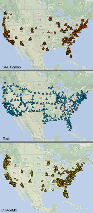 map of charging locations