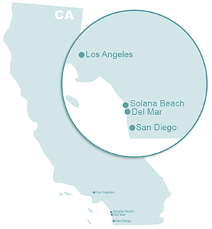 Map of Del Mar and Solana Beach