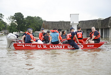 Flood water rescue