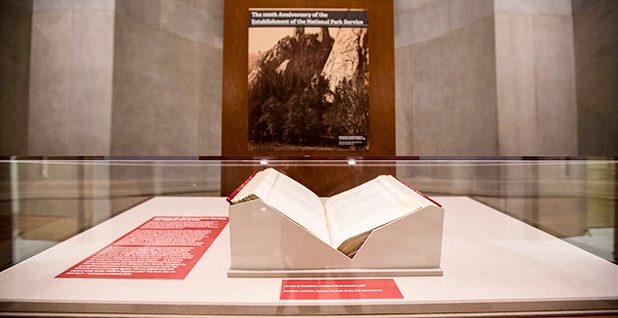 National Archives display