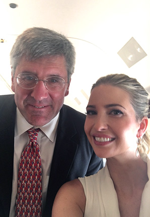 Stephen Moore, with Ivanka Trump