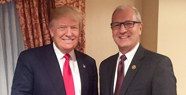 Donald Trump with Kevin Cramer