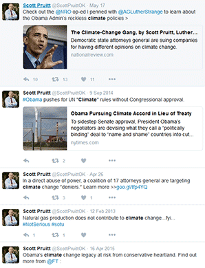 Scott Pruitt tweets