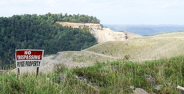 Mountaintop removal mine site