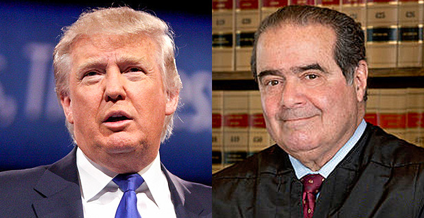 Donald Trump and Antonin Scalia