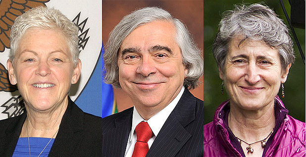EPA Administrator Gina McCarthy, Secretary of Energy, Dr. Ernest Moniz and Secretary of the Interior Sally Jewell.