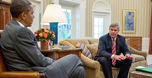 Obama and Tom Vilsack