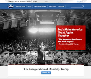 Trump White House web site