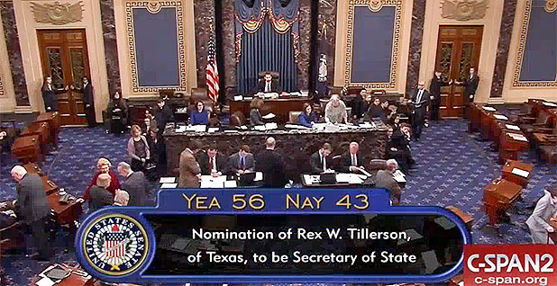 Senate Tillerson vote
