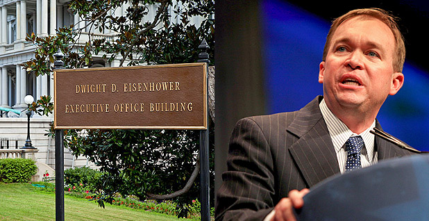 Eisenhower Executive Office Building and Mick Mulvaney