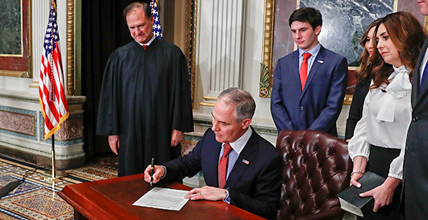 Scott Pruitt swearing in