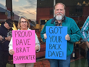 Rep. Dave Brat supporters
