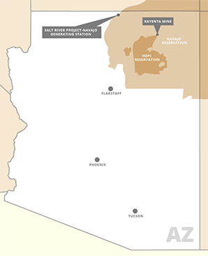 Navajo and Hopi reservation map