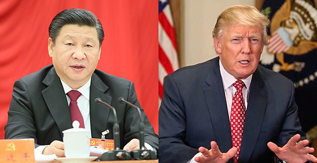 President Xi Jinping and Donald Trump