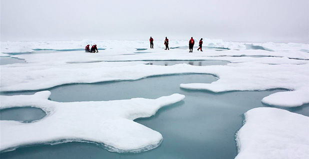 NASA scientists in the Arctic