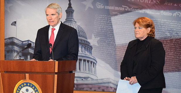 Sens. Rob Portman and Heidi Heitkamp