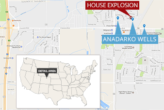 Firestone, Colo., house explosion map